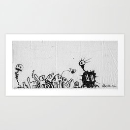 We the People - ink on napkin - 2000 by Alex J. Andrade Art Print