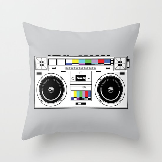 1 kHz #7 Throw Pillow