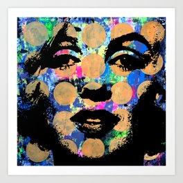 SEX GIRL SUPERSTAR FEMALE WOMAN NOW POP ART PAINTING Art Print