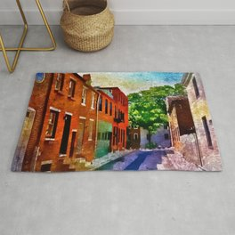 Fells Point Street, Historic Row Houses, Baltimore, Maryland  Rug