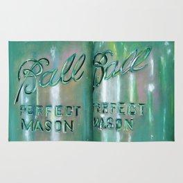 Ideal Mason Ball Jar Art Rug