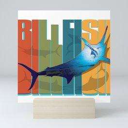 Billfish 70s Style Mini Art Print