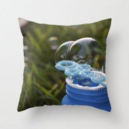 Bubble Bottle  Throw Pillow