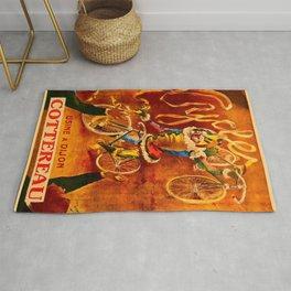 1898 Cottereau Tour de France Bicycle Advertising Poster Rug