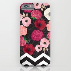 Chevron Flowers Slim Case iPhone 6s
