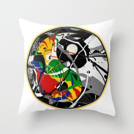 Cosmic Peace in the Abstract Balance of Order and Chaos Throw Pillow