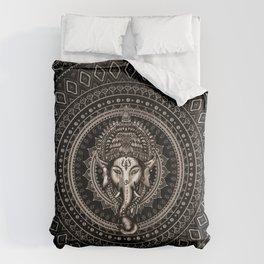 Lord Ganesha - Sepia Black Comforters