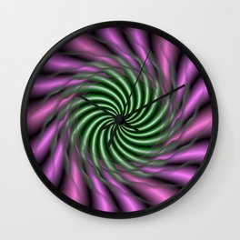 Psychedelic Swirl Wall Clock