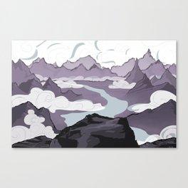Across a Mountain Valley  Canvas Print