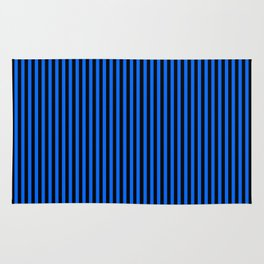 Striped black and blue background Rug
