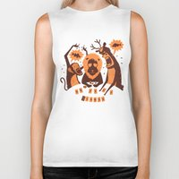 poker Biker Tanks featuring Holdem Poker by Bakal Evgeny