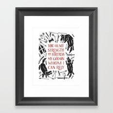 Psalm 59 Framed Art Print