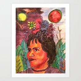 Looking Frida Art Print