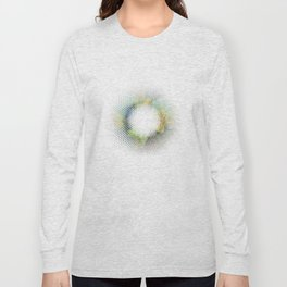 Textured Blue Pansy Long Sleeve T-shirt