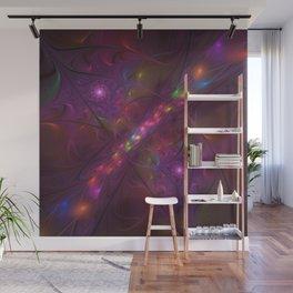 Colorful And Luminous Fractal Art Wall Mural