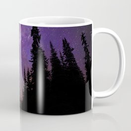 Milky Way Galaxy Over the Forest Coffee Mug