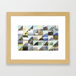 Rock Pattern Framed Art Print