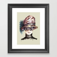 Girl with Goggles Framed Art Print