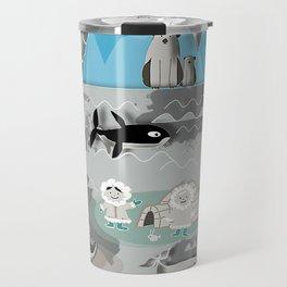 Arctic animals grey Travel Mug