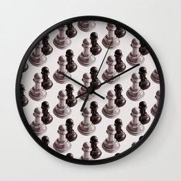 Chess Pawns Pattern Wall Clock