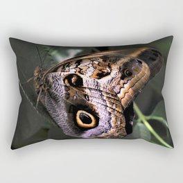 Sunbathing Giant Owl Butterfly Rectangular Pillow