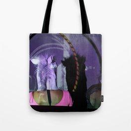 Purple horse had Tote Bag