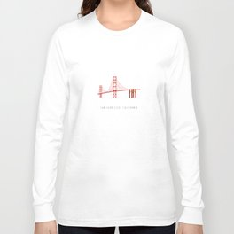 Golden Gate Bridge, San Francisco, California Long Sleeve T-shirt