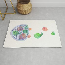Red and Green Magic Apples in the Bowl Rug