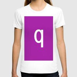 LETTER q (WHITE-PURPLE) T-shirt