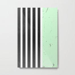 LIGHT MINT STRIPES Metal Print
