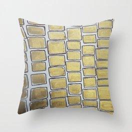 Metallic Squares Throw Pillow