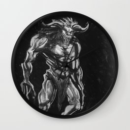 Goron of Ancient Hybrids By Samantha Glover Wall Clock