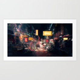 The Closing Hours Art Print