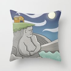 At Home By the Sea Throw Pillow