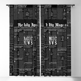 The Daily Mage Fantasy Newspaper II Blackout Curtain
