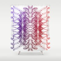 dinosaurs Shower Curtains featuring Dinosaurs by Stefano Stefanini