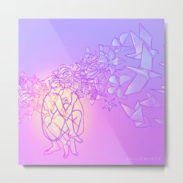 Hollowlove Origami Heart Metal Print