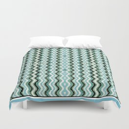 Abstract Lines and Weave - Blue Gray Duvet Cover