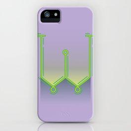Alphabet Drop Caps Series- W iPhone Case