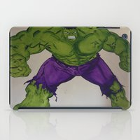 hulk iPad Cases featuring Hulk  by Ellis Mural Designs