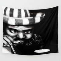 reggae Wall Tapestries featuring Reggae DJ by Mr Shins