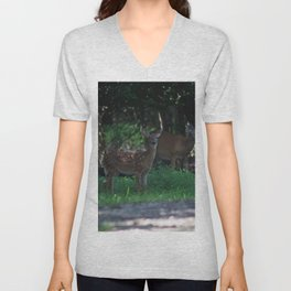Fawn in the Forest Unisex V-Neck