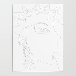 Durga Mahakali Thread Art Poster