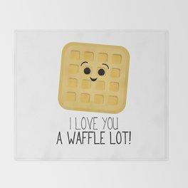 I Love You A Waffle Lot! Throw Blanket