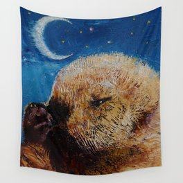 Sea Otter Pup Wall Tapestry