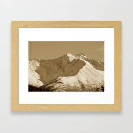Majestic Mountain - Sepia Framed Art Print