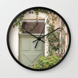 Doorway in France Wall Clock