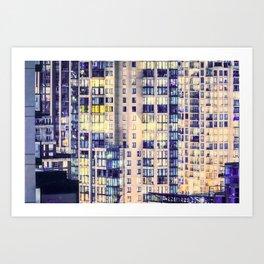Pastel Urban Sprawl Cityscape Art Print