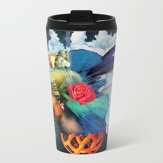 With the Eyes of Forever Metal Travel Mug