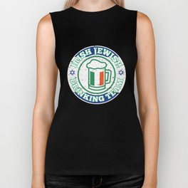 Irish Jewish Drinking Team With Israel Flag Patty's Biker Tank